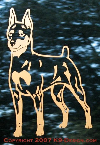 Miniature Pinscher Standing Decal - Choose Color