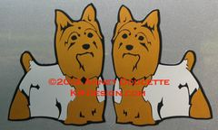 Silky Terrier Standing Magnet - Choose Color