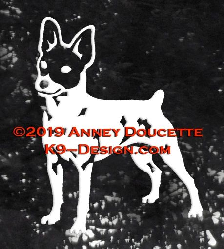 Toy Fox Terrier Standing Decal
