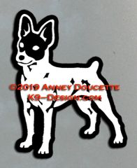 Toy Fox Terrier Standing Magnet - Choose Color