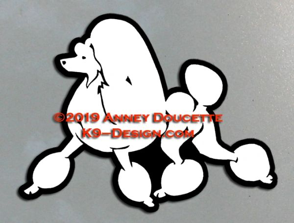 Poodle Continental Trim Trotting Magnet - Choose Color