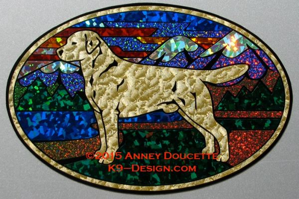 "Labrador Retriever ""Colorado"" XL Oval Magnet - Yellow or Black Dog"