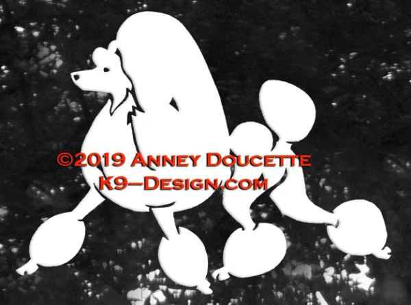 Poodle Continental Trim Trotting Decal - Choose Color