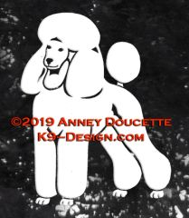 Poodle Puppy Trim Standing Decal - Choose Color