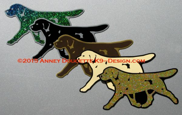 Labrador Retriever Trotting Magnet - Choose Color