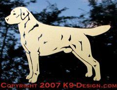 Labrador Retriever Standing Decal - Choose Color