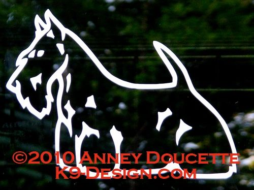 Scottish Terrier Decal - Choose Color