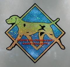 "Vizsla Hologram Diamond 8"" Magnet"