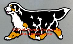 Bernese Mountain Dog Trotting Magnet