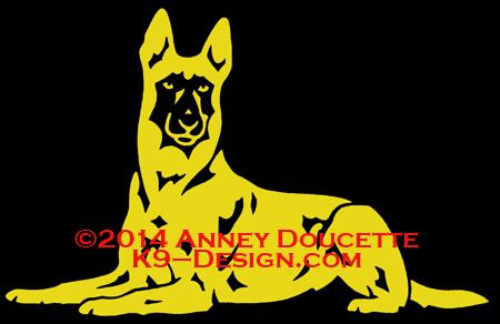 "Belgian Malinois ""Platz"" Decal"