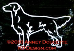 Flat-Coated Retriever Standing Decal