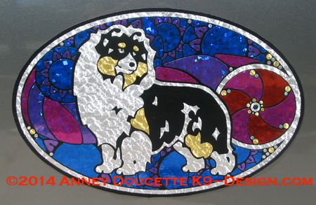 "Shetland Sheepdog ""Show Spectacular"" XL Oval Magnet - Choose Dog Color"