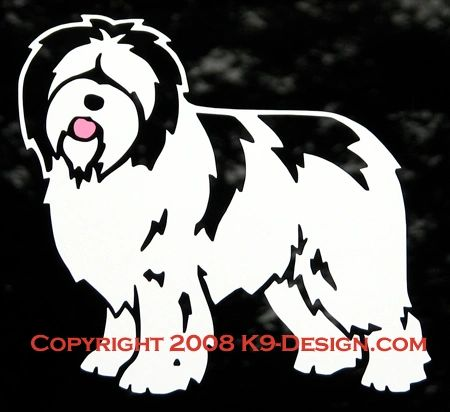 Polish Lowland Sheepdog Standing Decal
