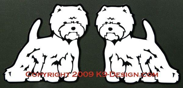 West Highland White Terrier Terrier Standing Magnet