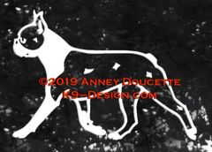 Boston Terrier Trotting Decal