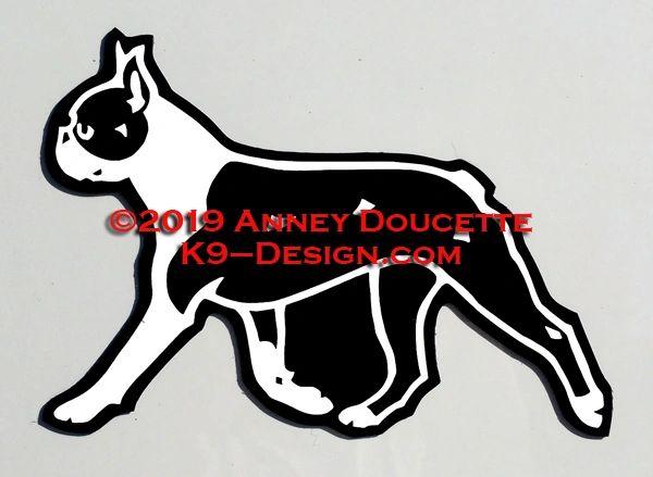 Boston Terrier Trotting Magnet - Choose Color