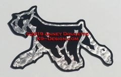 Standard or Miniature Schnauzer Trotting Magnet - Choose Color