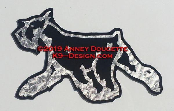 Standard or Miniature Schnauzer Trotting Magnet - Choose Color