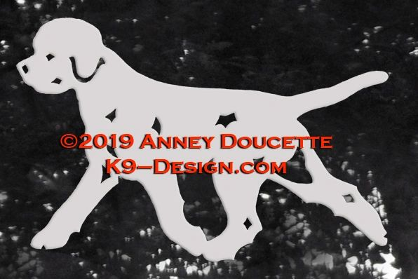 Lagotto Romagnolo Trotting Decal - Choose Color