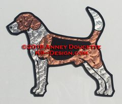 English Foxhound Standing Magnet