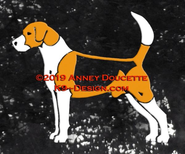 English Foxhound Standing Decal