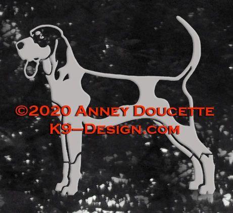 Bluetick Coonhound Standing Decal