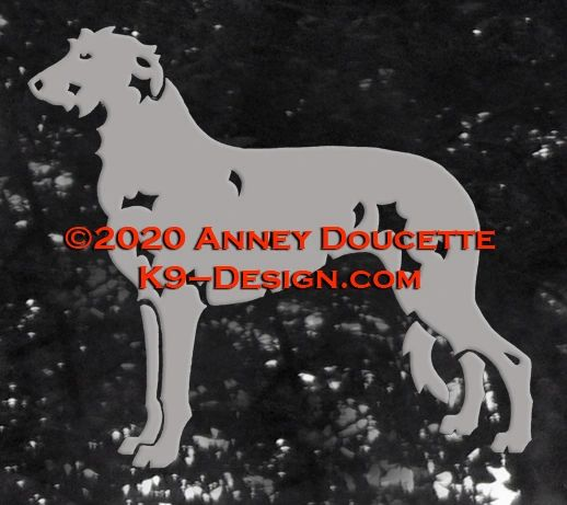 Scottish Deerhound Standing Decal - Choose Color