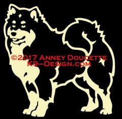 Finnish Lapphund Decal - Choose Color
