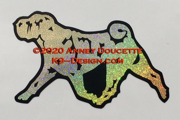 Chinese Shar-Pei Trotting Magnet - Choose Color