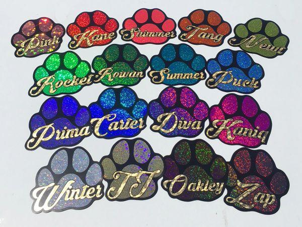 Custom Name Paw Print Magnet - Choose Color