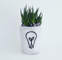Cement Planter - Light Bulb
