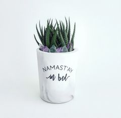 Cement Planter - Namast'ay In Bed