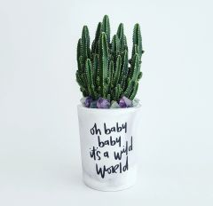 Cement Planter - Oh Baby Baby Its A Wild World