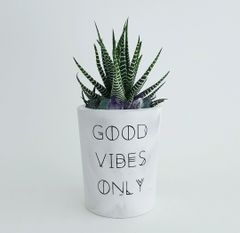 Cement Planter - Good Vibes Only