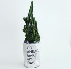 Cement Planter -Go Ahead, Make My Day