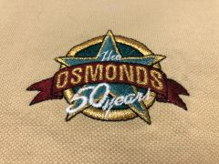 Tan Osmond 50th Anniv Star logo polo shirt (4X, 5X only)