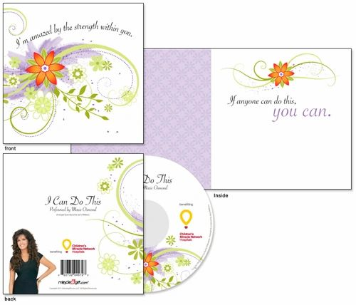 Miracle Gift Card - I Can Do This - Marie Osmond