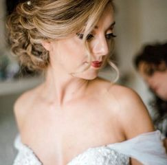 Bombshell Creations onsite hair and makeup for weddings and events. Bridal hairstyles. makeup.