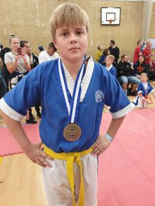 Alex winning gold!