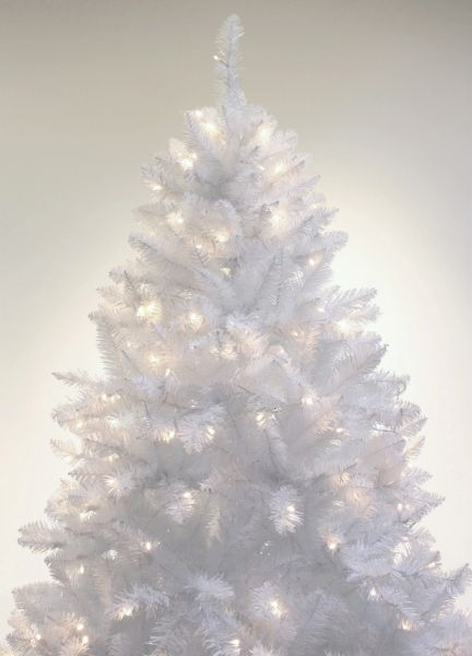 A 07 Pre Lit Sparkling White Christmas Tree With Led Light