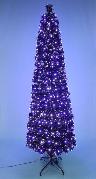 Led Fiber Optic Christmas Trees.Blue And White Led Lights Pencil Fiber Optic Christmas Tree Black