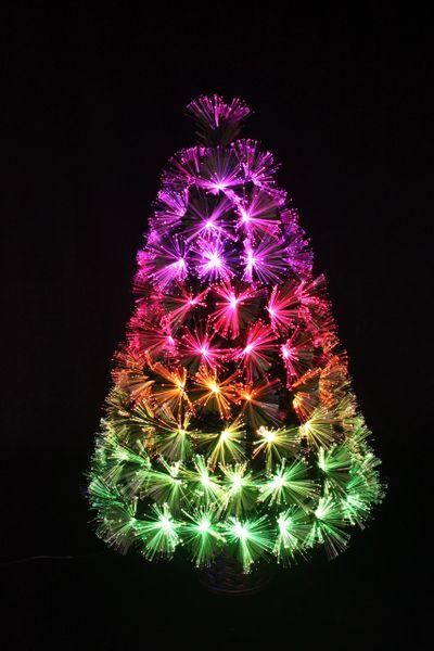 B 09 3 Foot Rgb Color Changing Vintage Tabletop Fiber Optic Christmas Tree