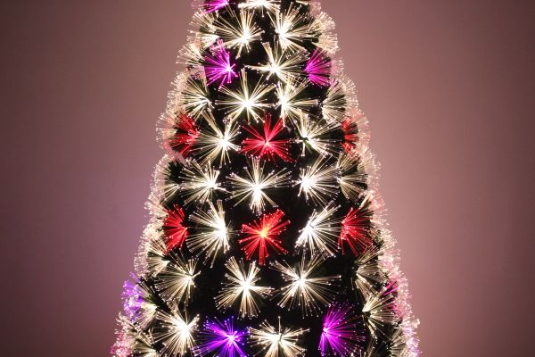 Firework Multi Colour Fiber Optic Christmas Tree