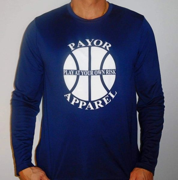 PAYOR Apparel Basketball Men's Dryfit Performance Long Sleeve T-Shirt