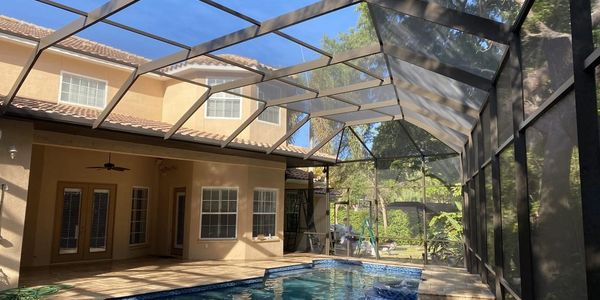 With the painting & rescreening process we make sure your peace of mind you have a pool cage new