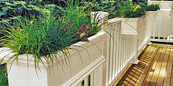 Self Watering Railing Flower Boxes