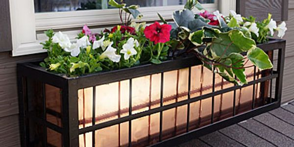 Wrought Iron Flower Boxes