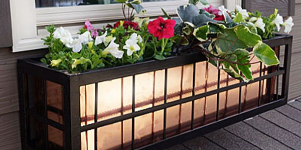 Self Watering Wrought Iron Window Boxes