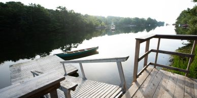 Dock on Martins River, bed and breakfast nova scotia, B&B Nova Scotia, places to stay in Mahone Bay