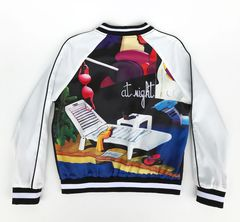 """At Night"" Print Bomber Jacket"